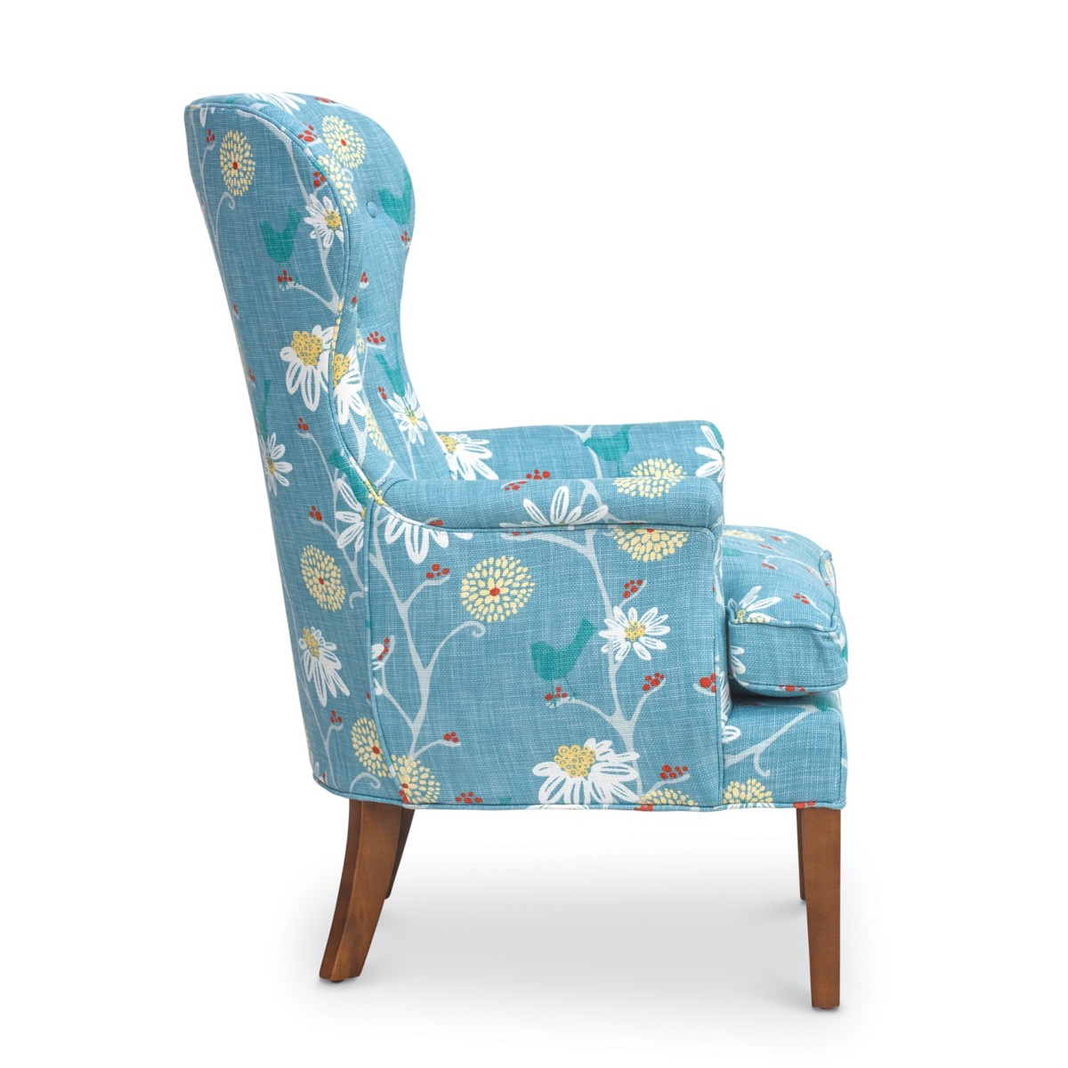 Teal wingback chair - Eloise Wingback Chair