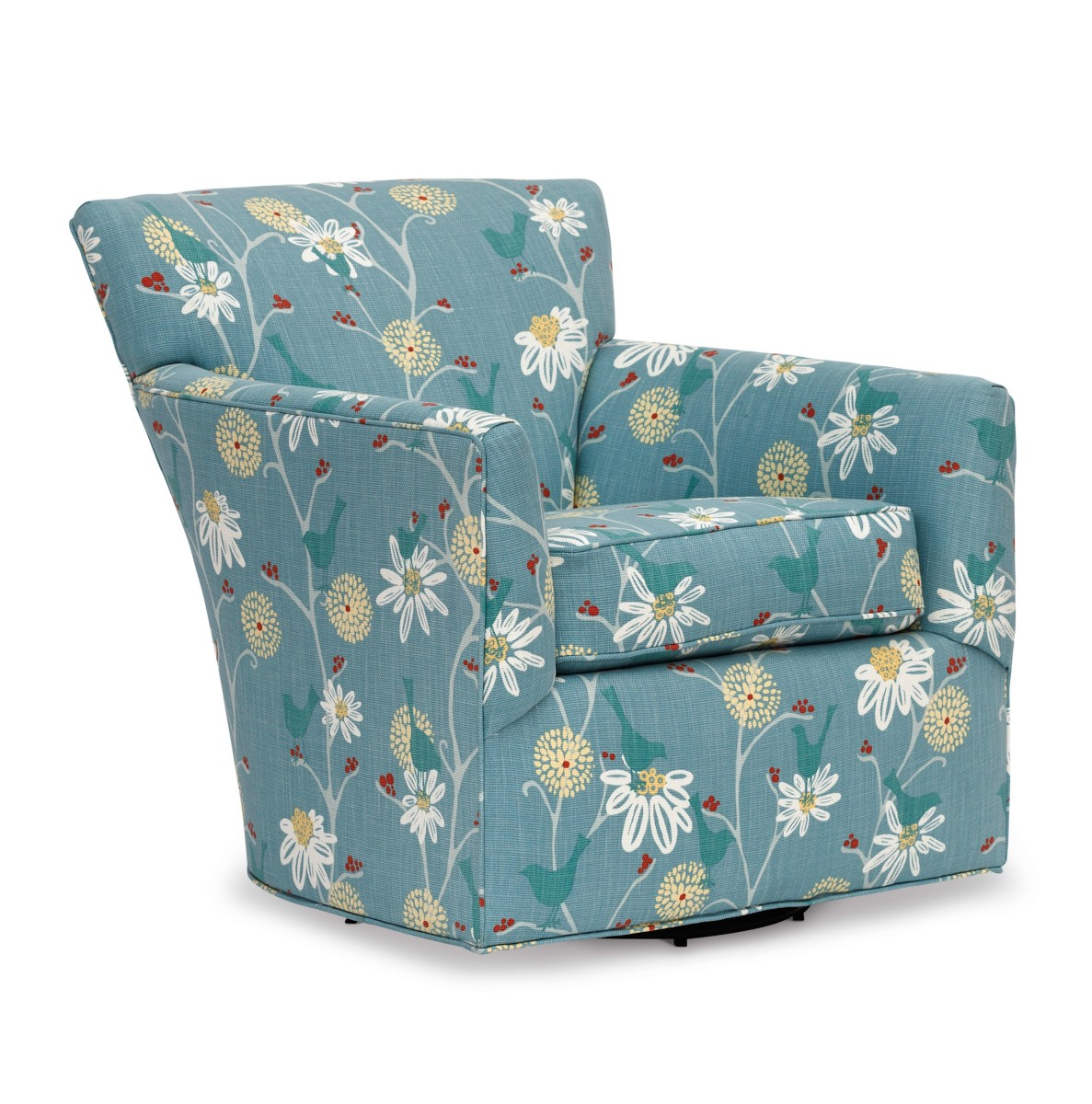 Teal Chair Nina Swivel Chair Maine Cottager
