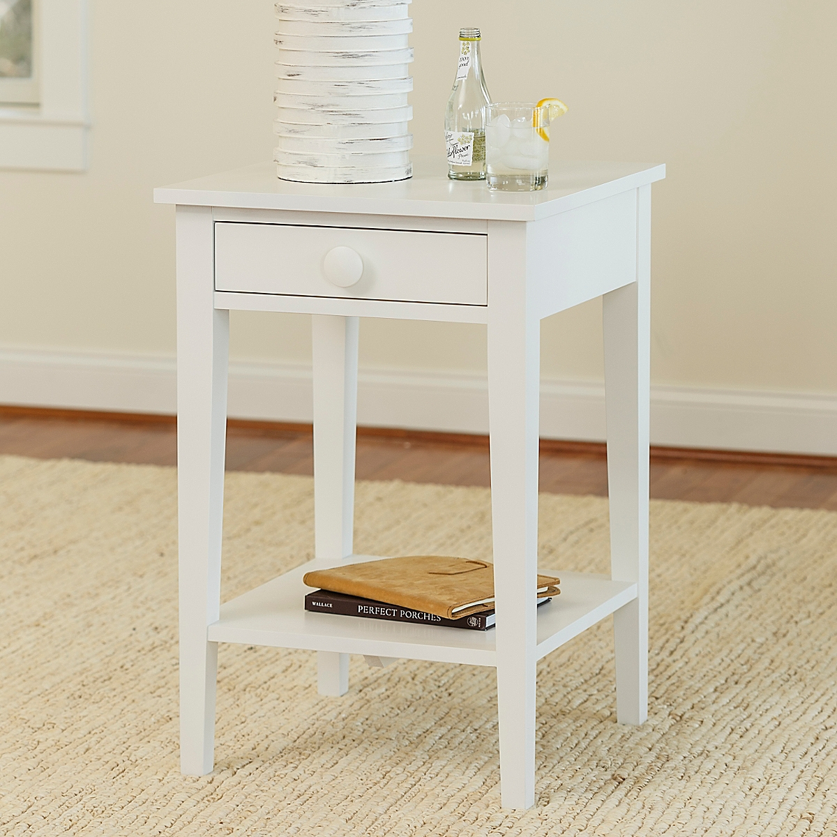 Side table with drawer and shelf - Addy Side Table With Shelf