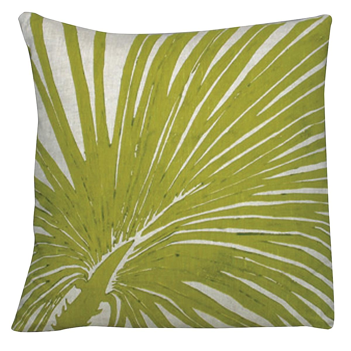 """20"""" x 20"""" - Big Palm Pillow on Natural Linen"""
