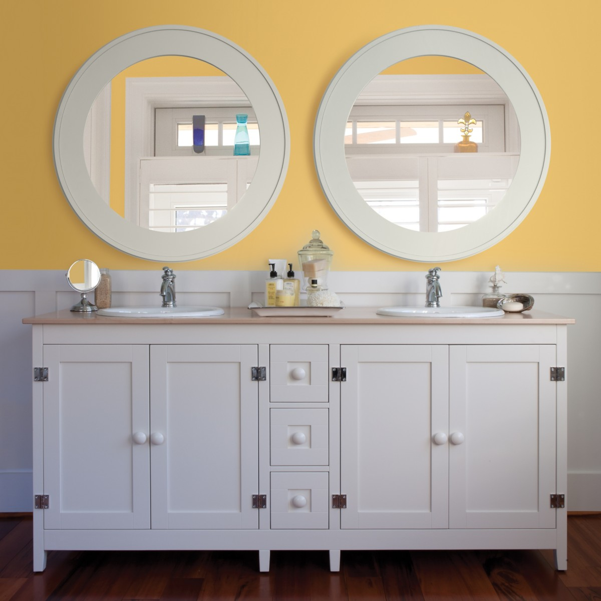 Big Round Bay Mirror by Maine Cottage | Where Color Lives