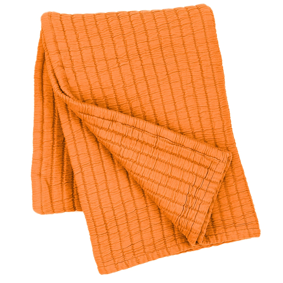 "Boyfriend Orange Matelasse Throw 50"" x 70"""