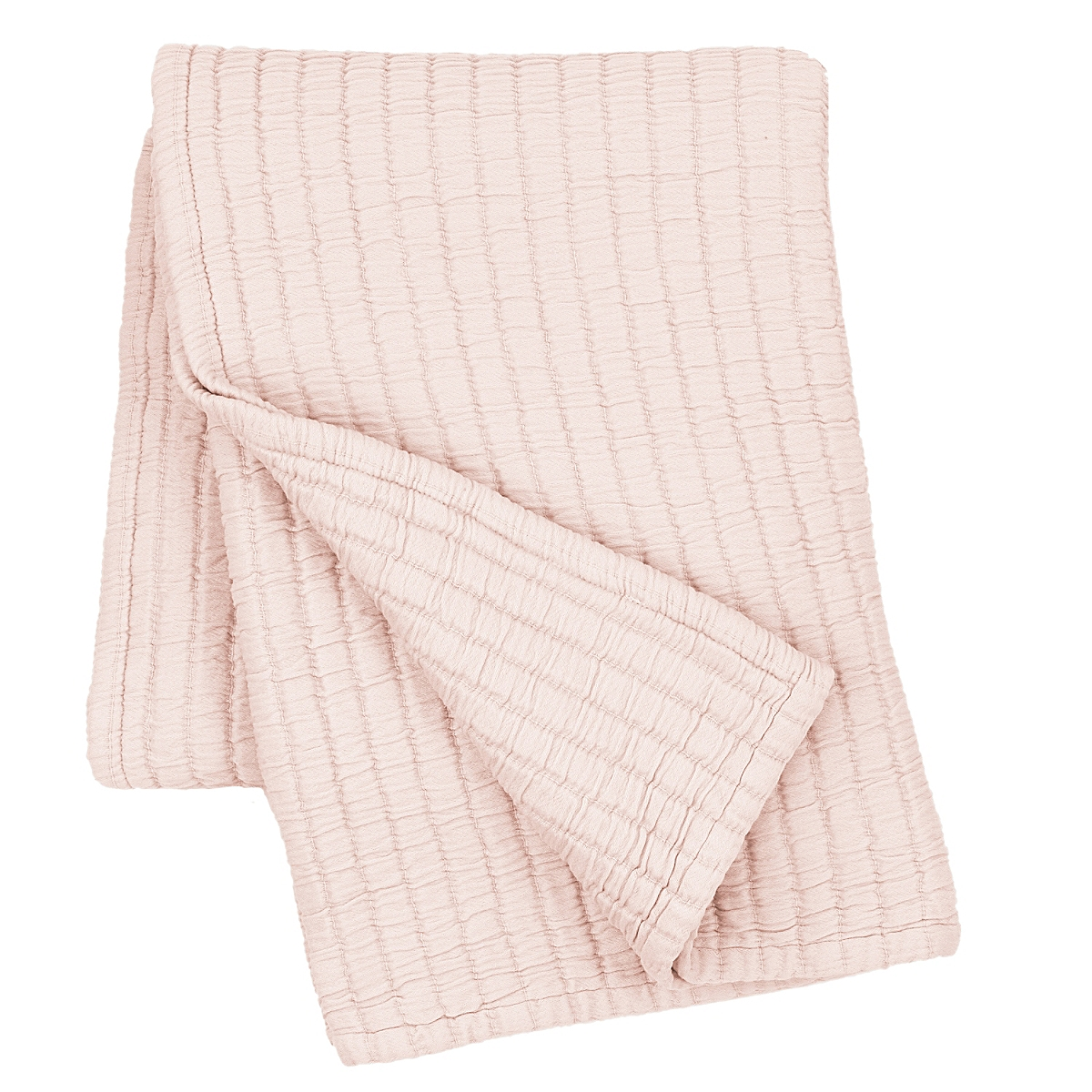 "Boyfriend Slipper Pink Matelasse Throw 50"" x 70"""
