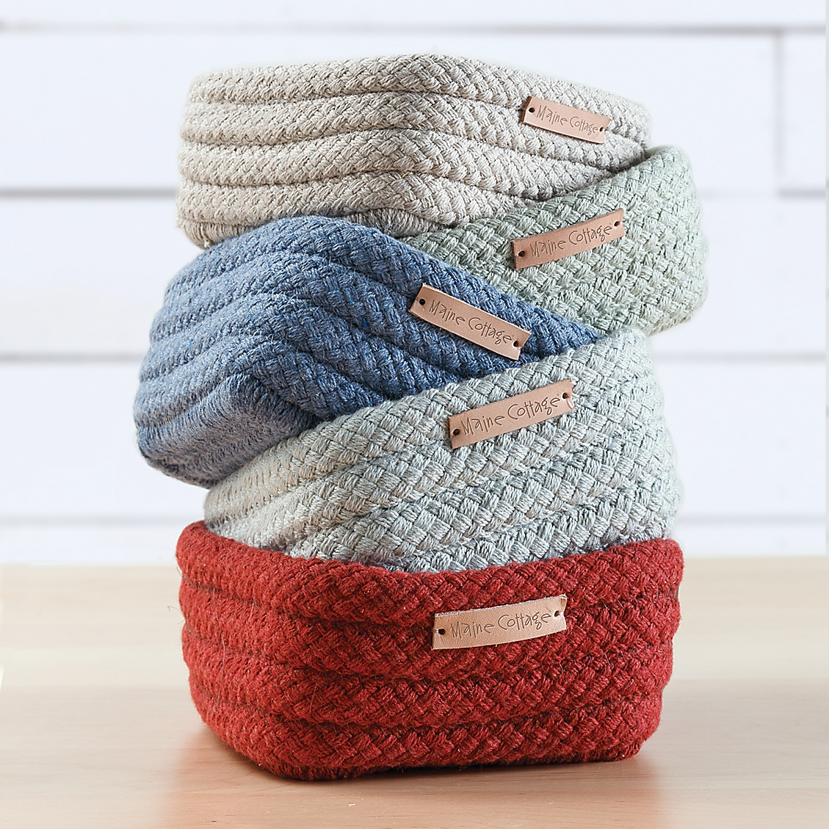Braided Sunbrella Catchall Basket