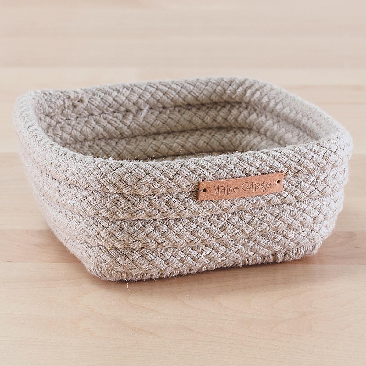 Braided Sunbrella Catchall Basket