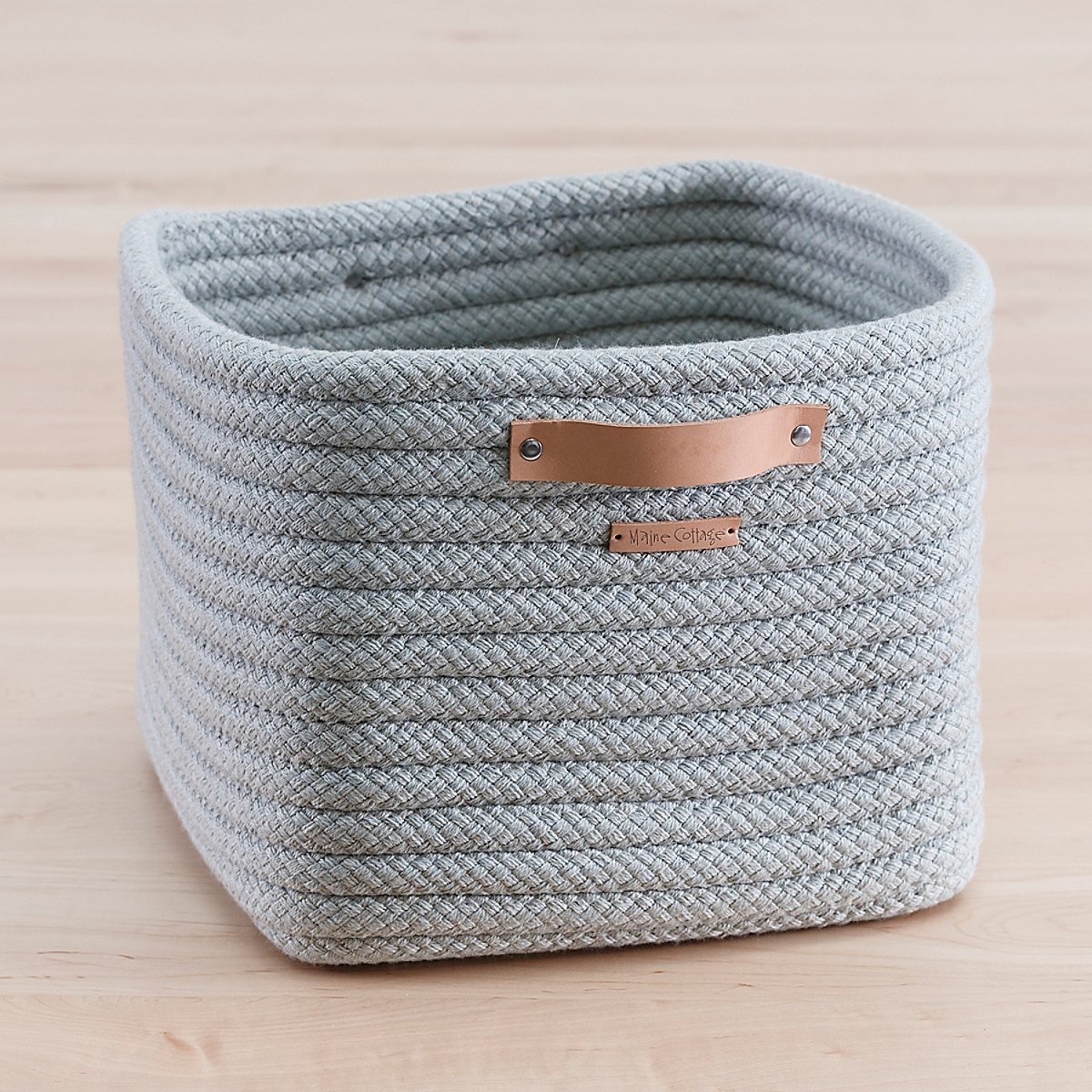 Braided Sunbrella Stow-Away Basket