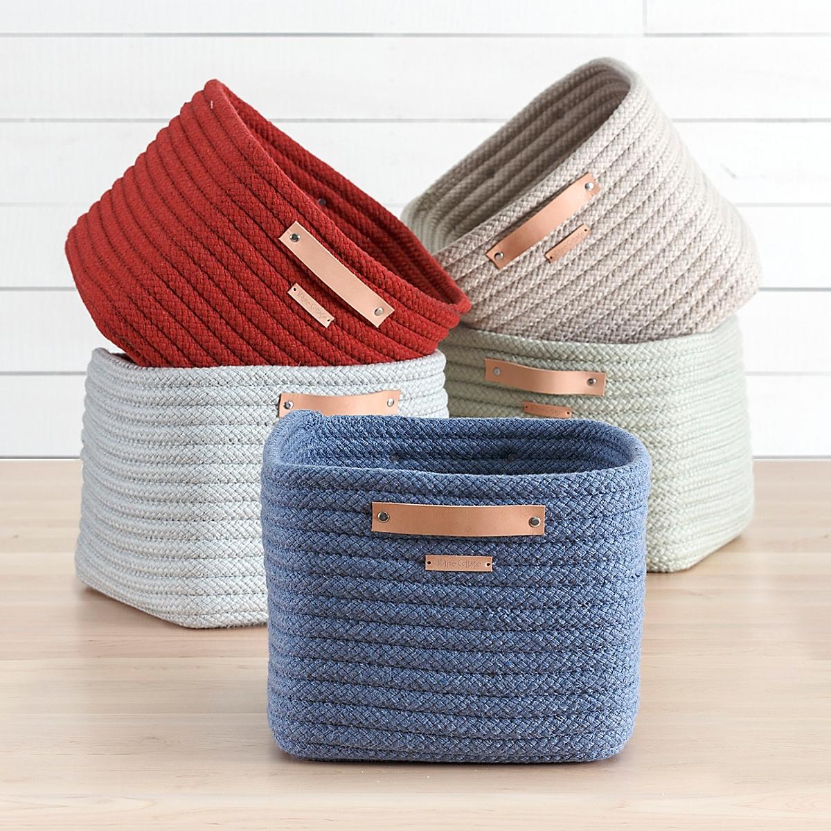 Braided Sunbrella Stow-Away Basket