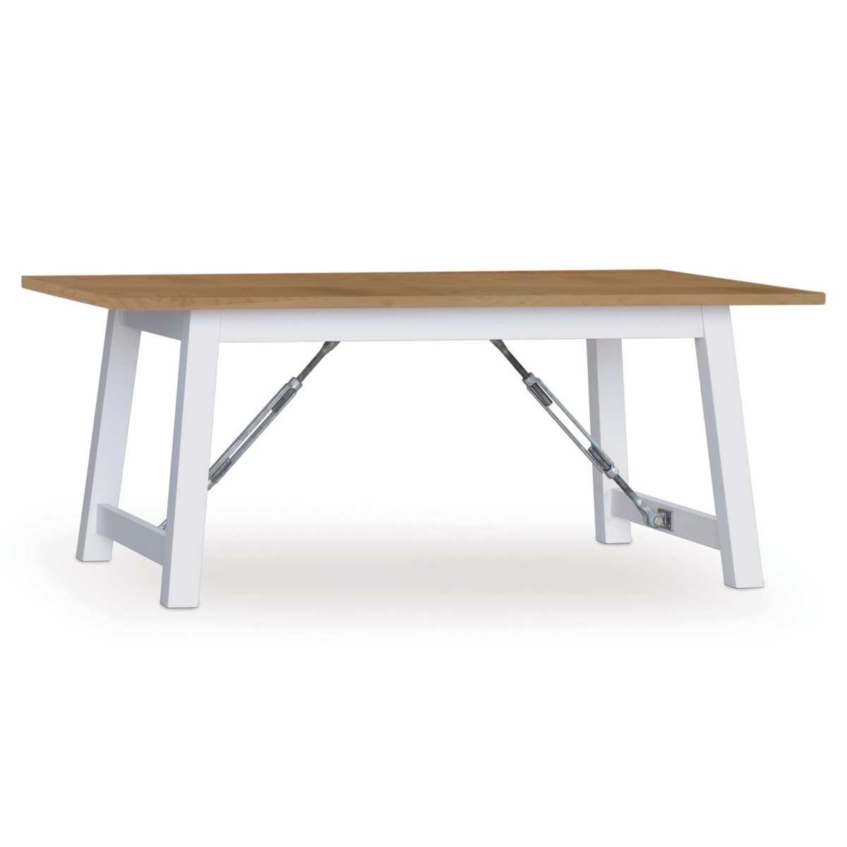 Cable Lock Dining Table - Quarter Sawn Oak Top