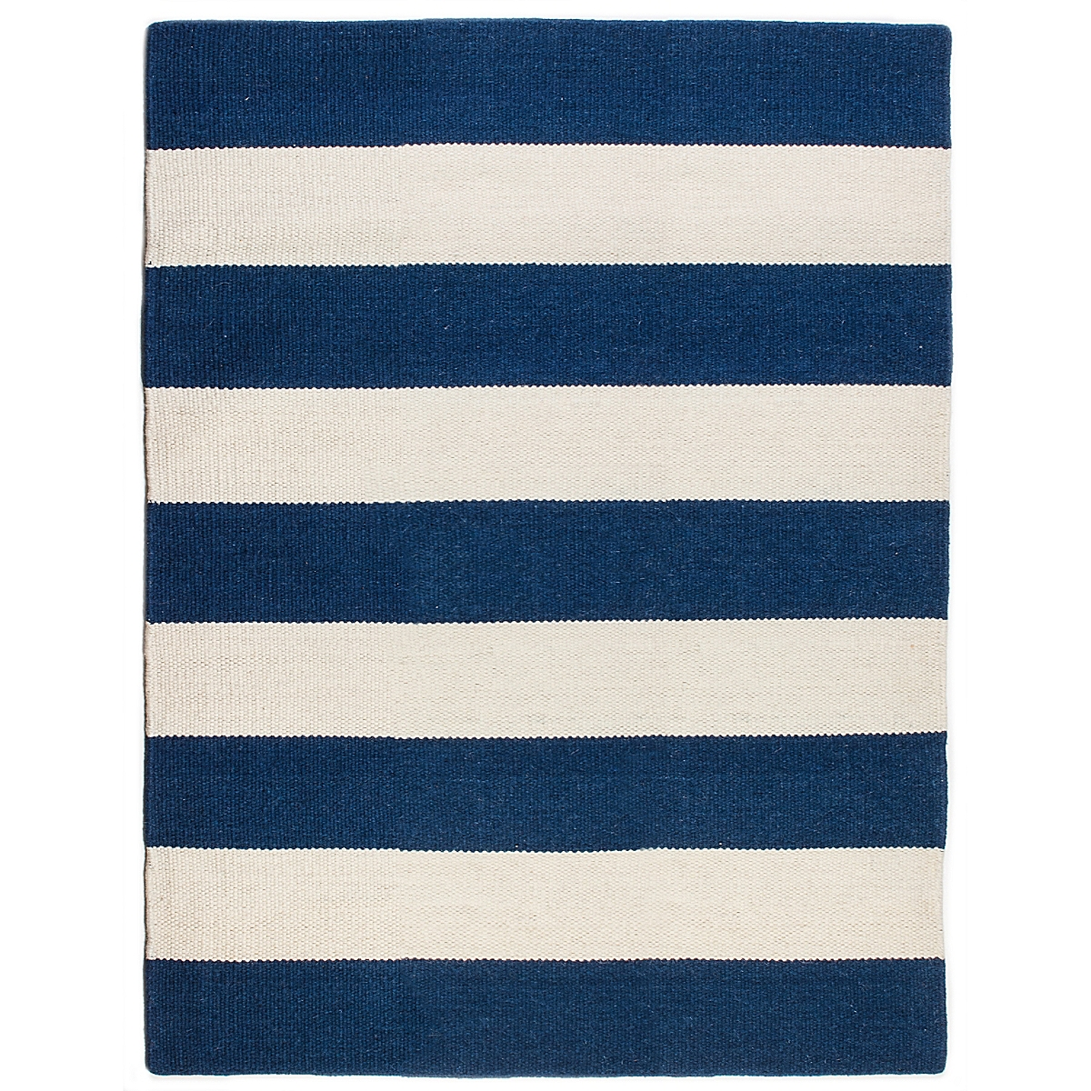 Cape Neddick Wool Berber Striped Rug