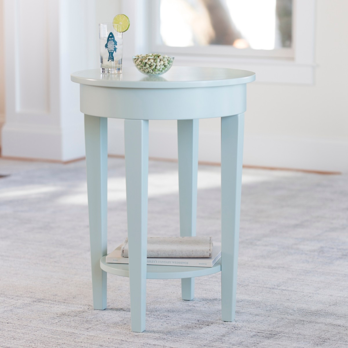 Charlie Round Side Table by Maine Cottage