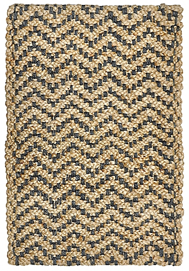Chevron Jute Rug Slate Maine Cottage