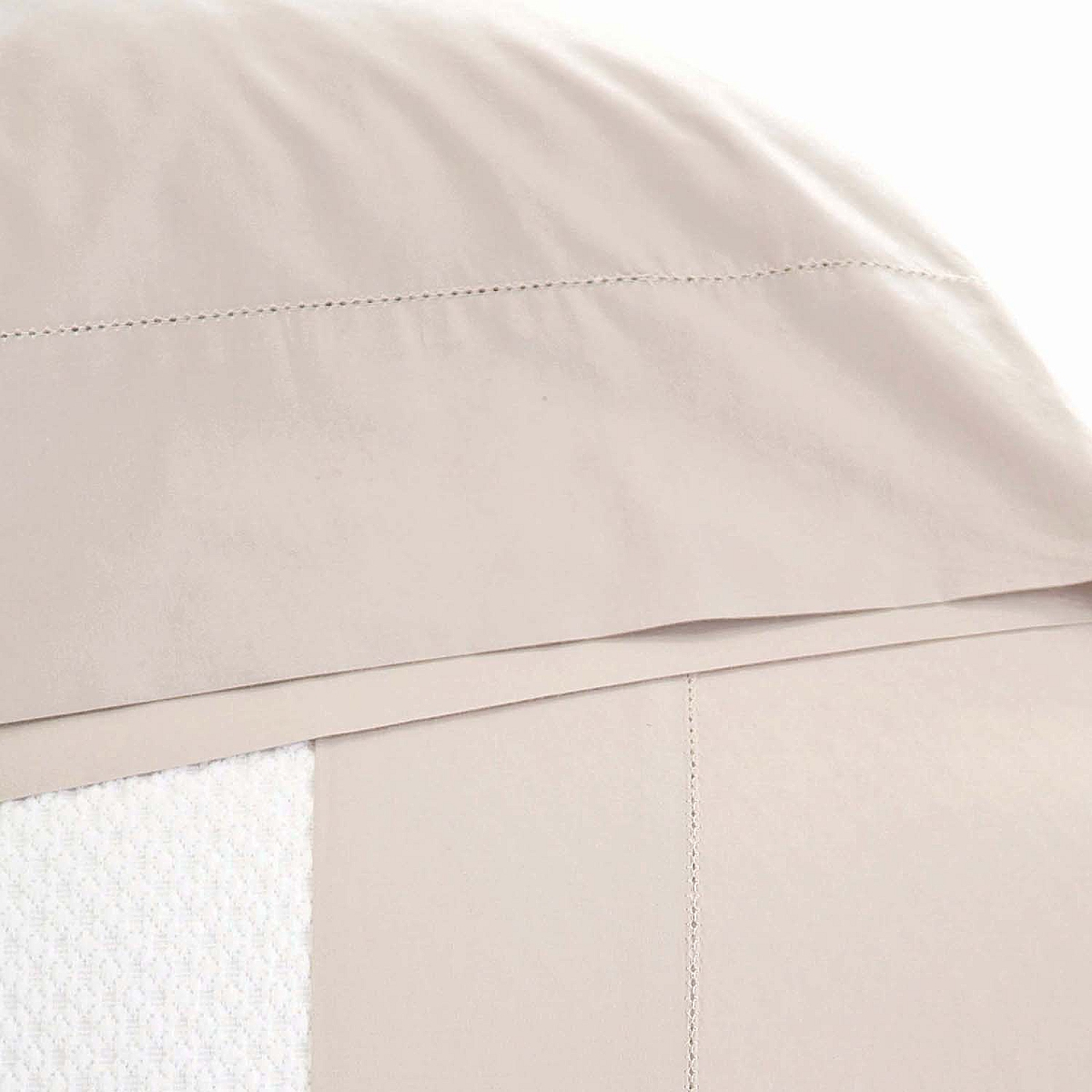 Classic Hemstitch Pillowcases Natural