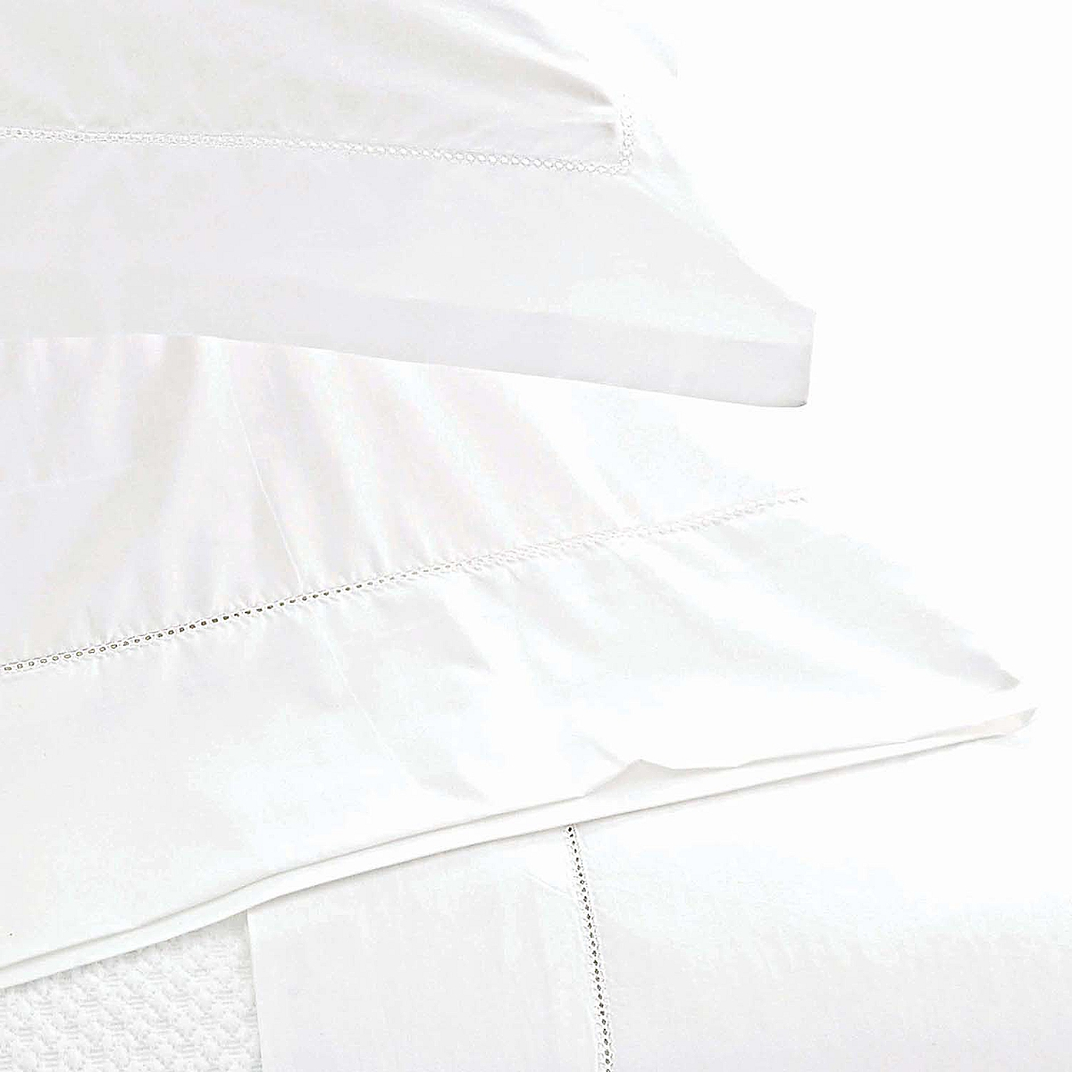 Classic Hemstitch Pillowcases White