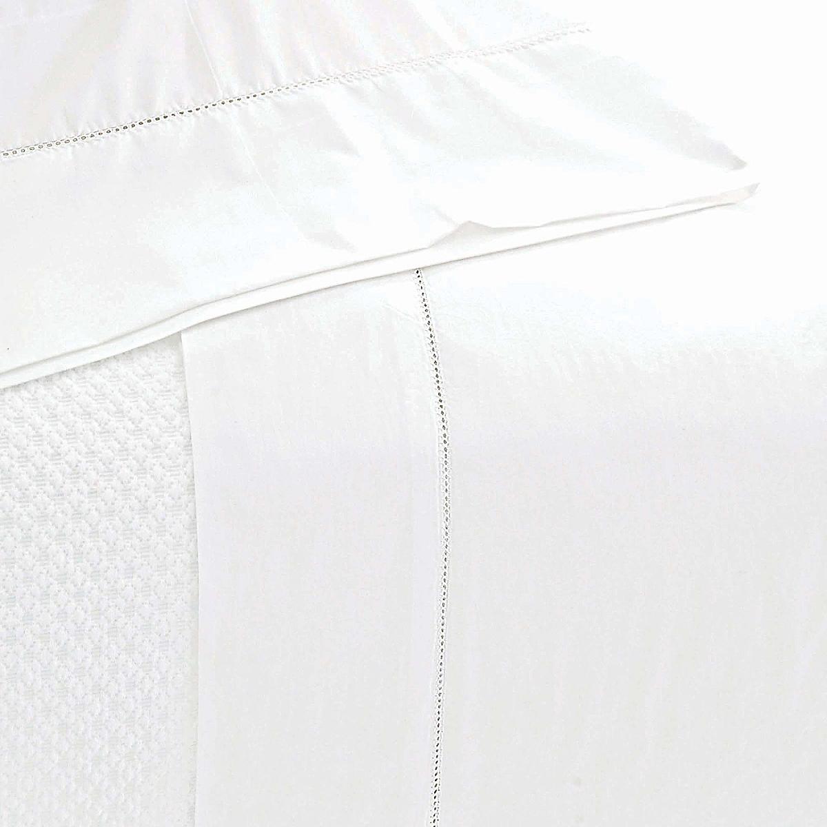 Classic Hemstitch Sheet Set White