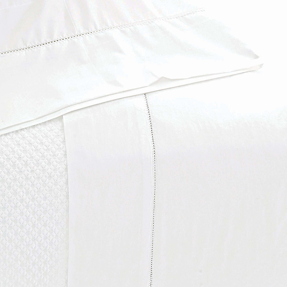 Classic Hemstitch Sheet Set White