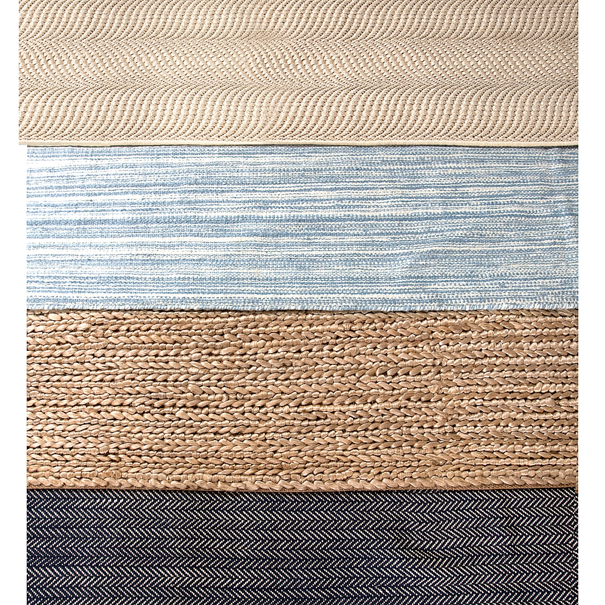 Wave Sand Woven Sisal Rug Maine Cottage 174