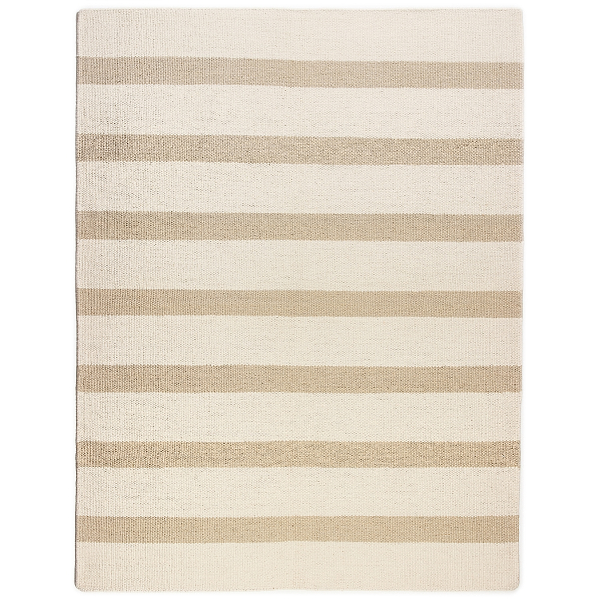 Cockspur Island Wool Berber Striped Rug