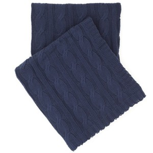 "Comfy Cable Knit Indigo Throw 50"" x 70"""