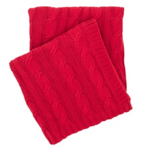 "Comfy Cable Knit Red Throw 50"" x 70"""