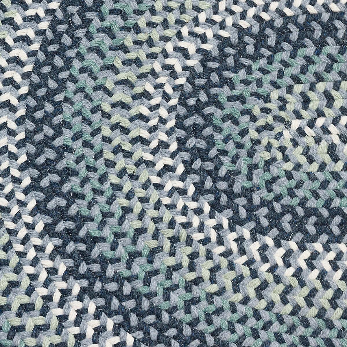 Cottage Braided Wool Rug - Dark Blue