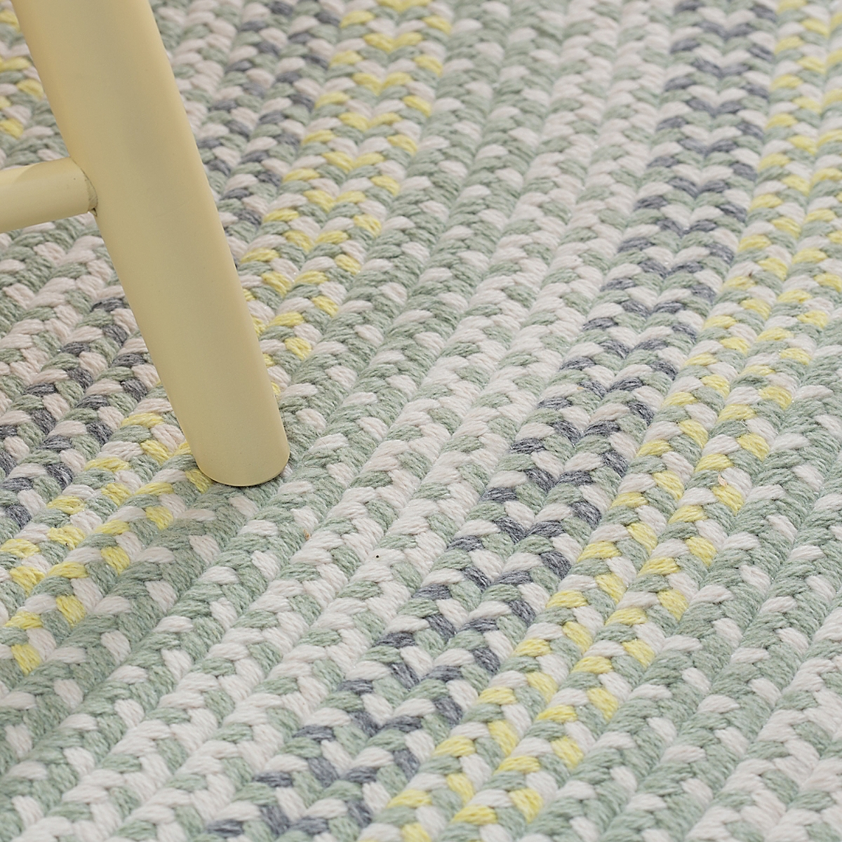 Cottage Braided Wool Rug - Yellow/Green