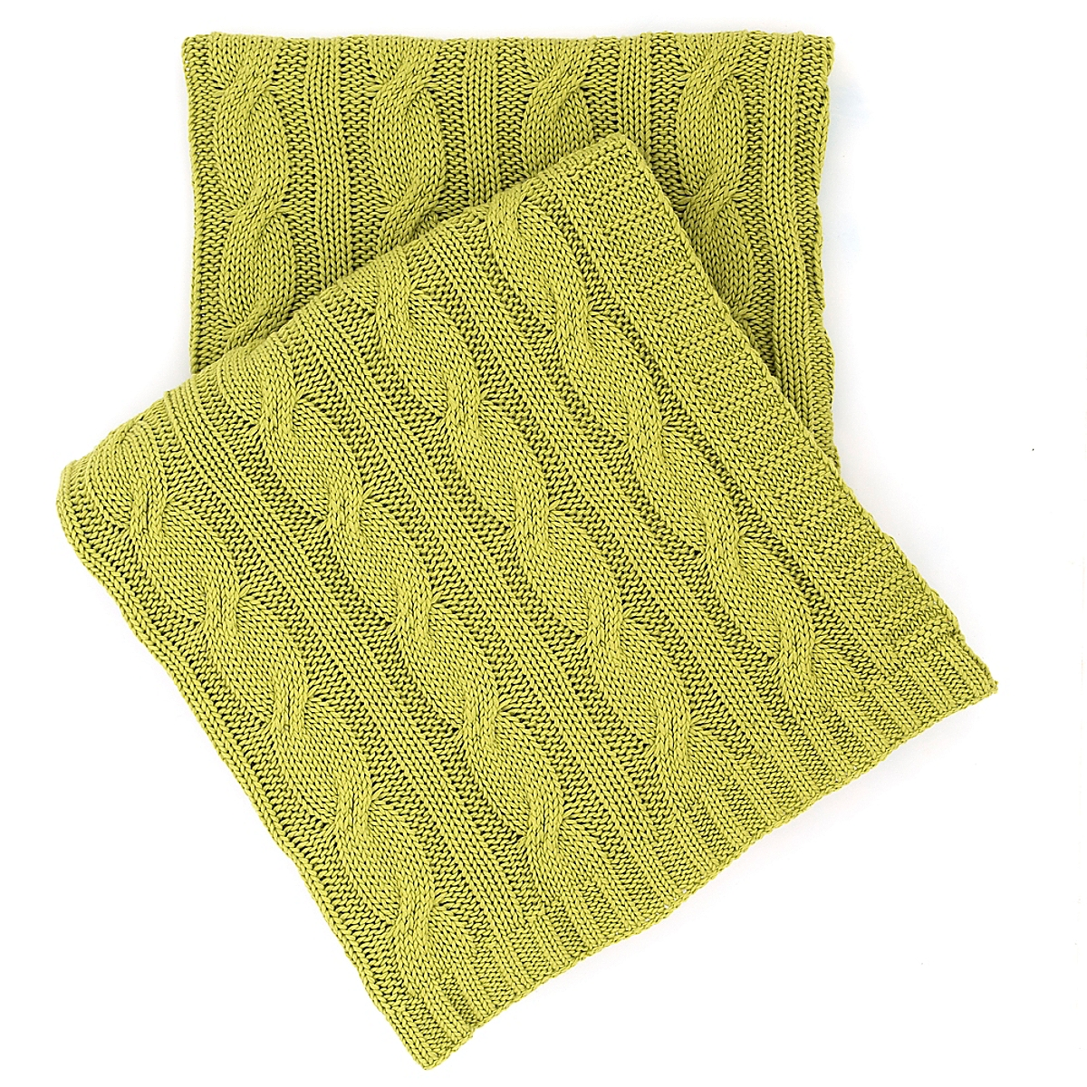 Cozy Cable Knit Blanket Lime