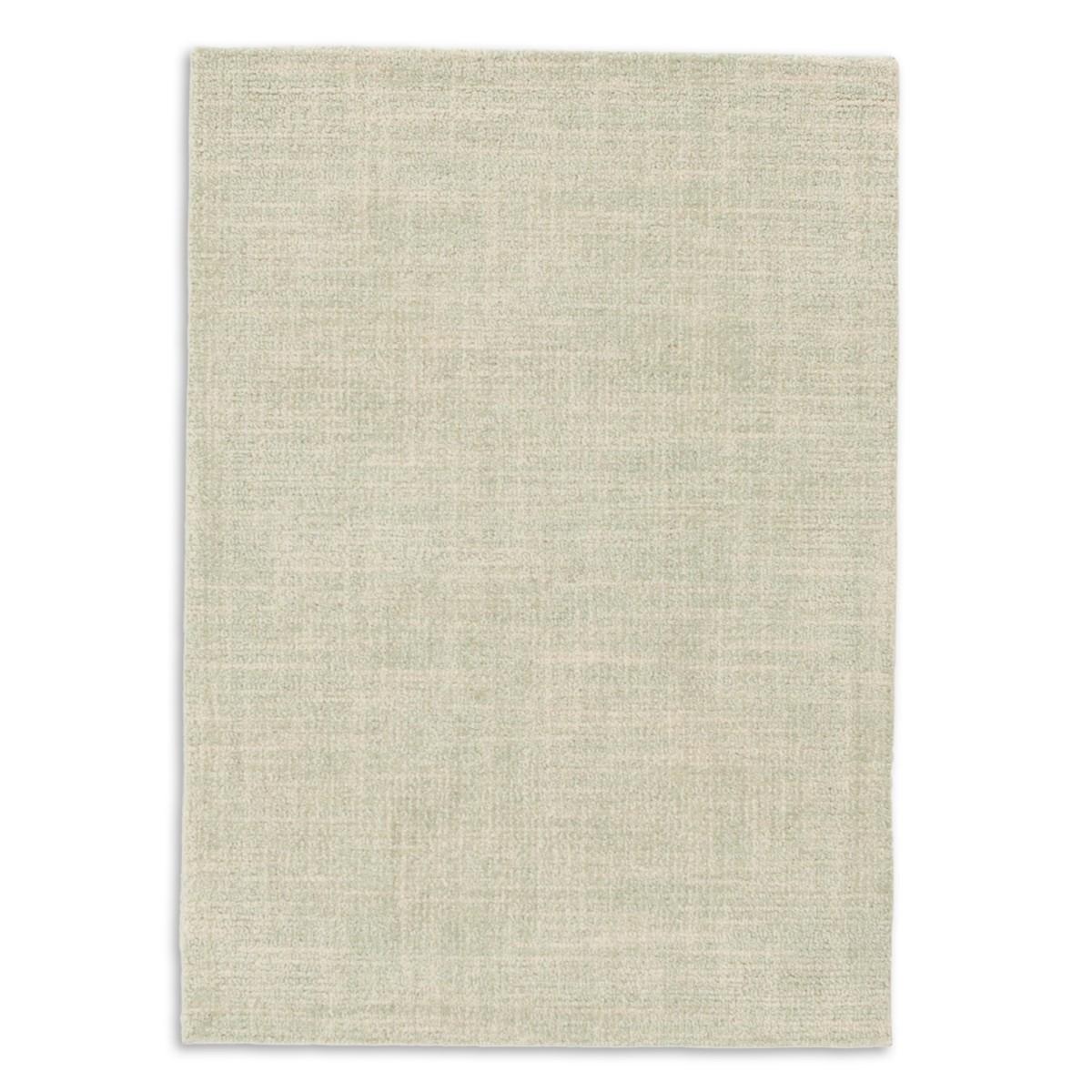 Crosshatch Wool Micro Hooked Rug - Celadon