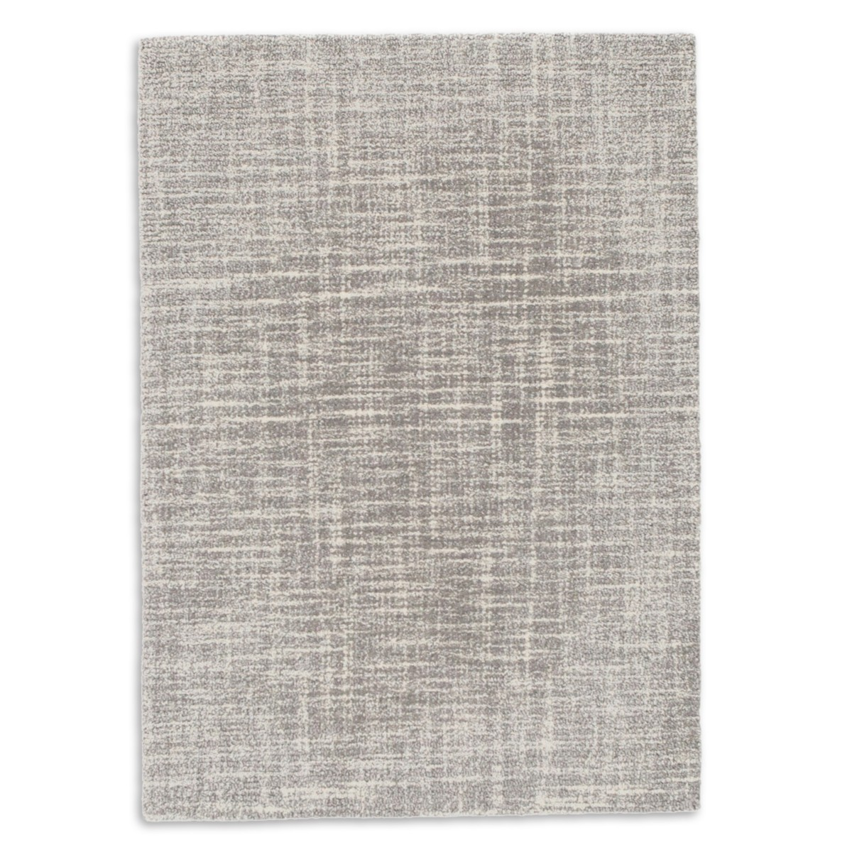 Crosshatch Wool Micro Hooked Rug - Dove Grey