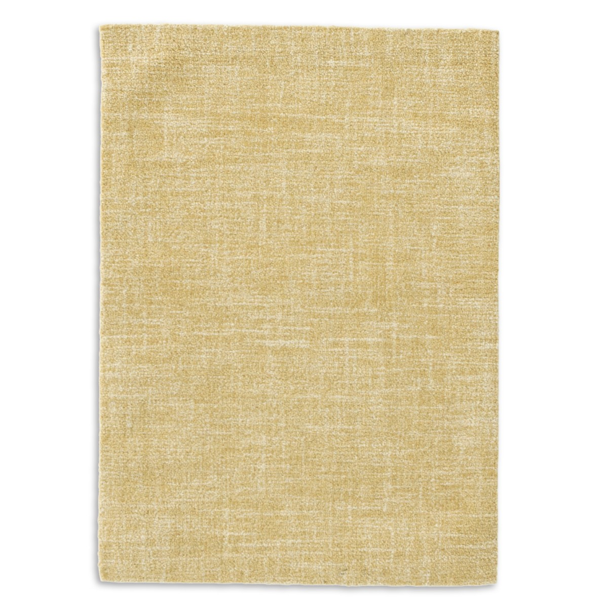 Crosshatch Wool Micro Hooked Rug - Gold