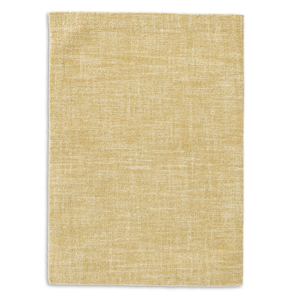 Crosshatch Wool Micro Hooked Rug - Gold