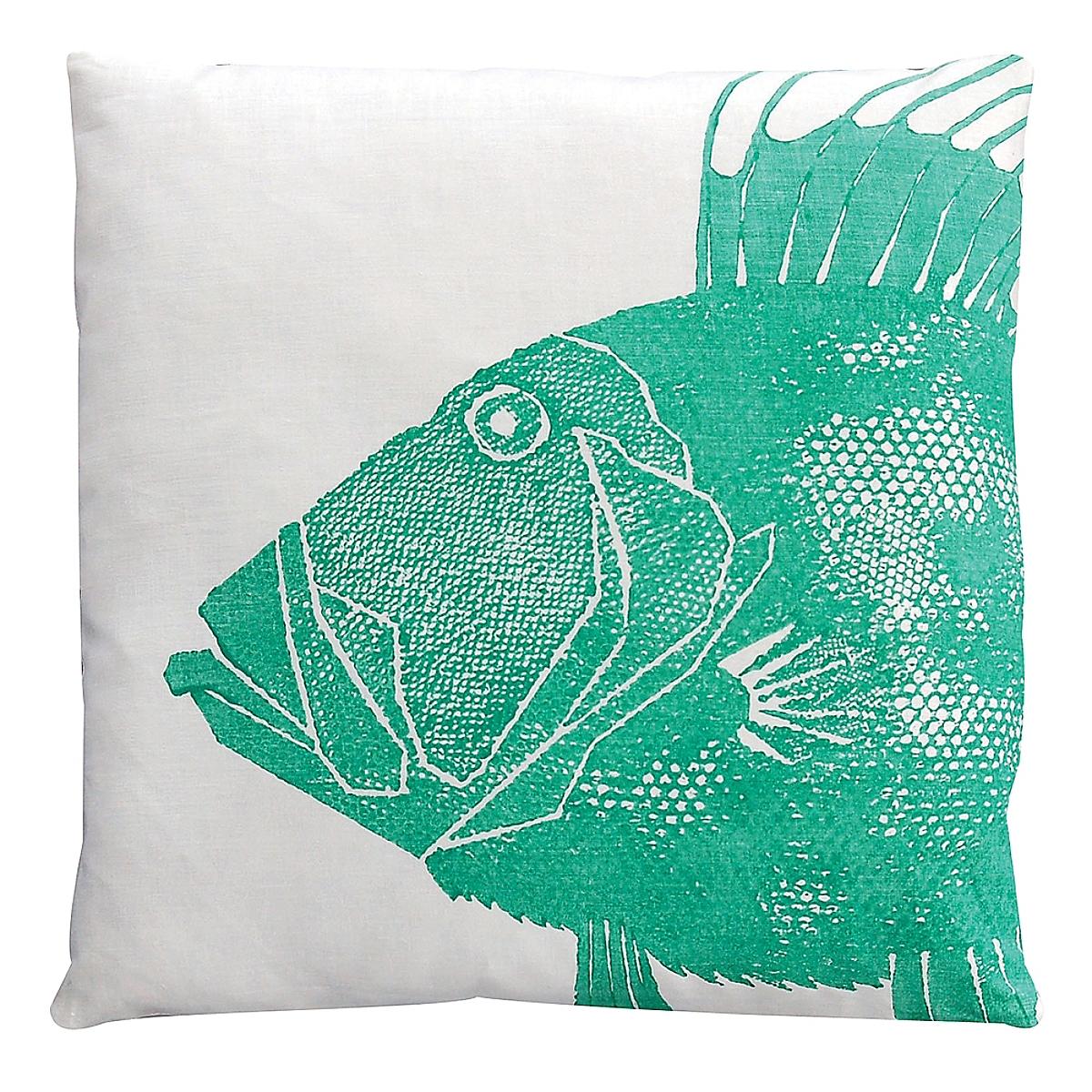 "20"" x 20"" - Dory Pillow: Porch on White Linen"