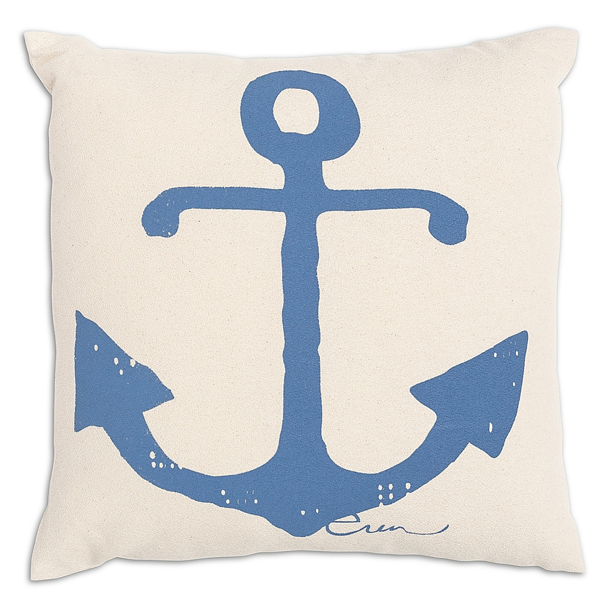 "20"" x 20"" - Anchor Pillow: French Blue"