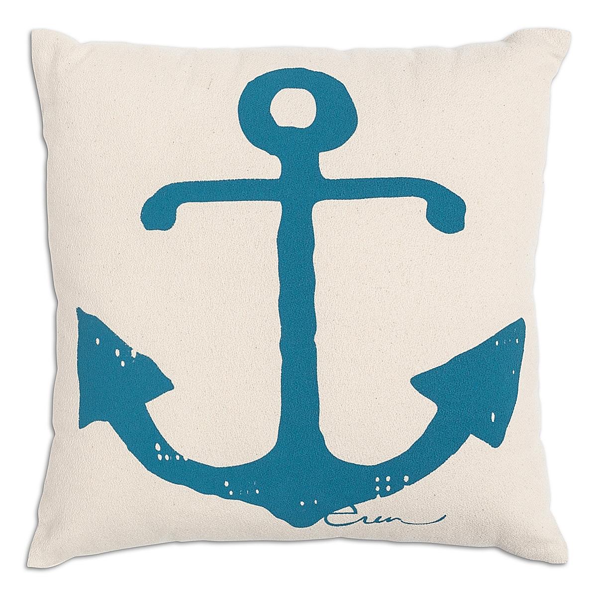 """20"""" x 20"""" - Anchor Pillow: Lagoon"""