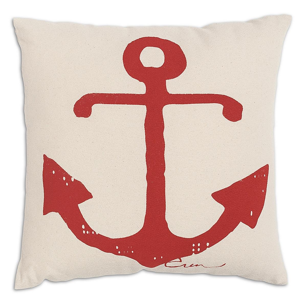 """20"""" x 20"""" - Anchor Pillow: Rhubarb"""