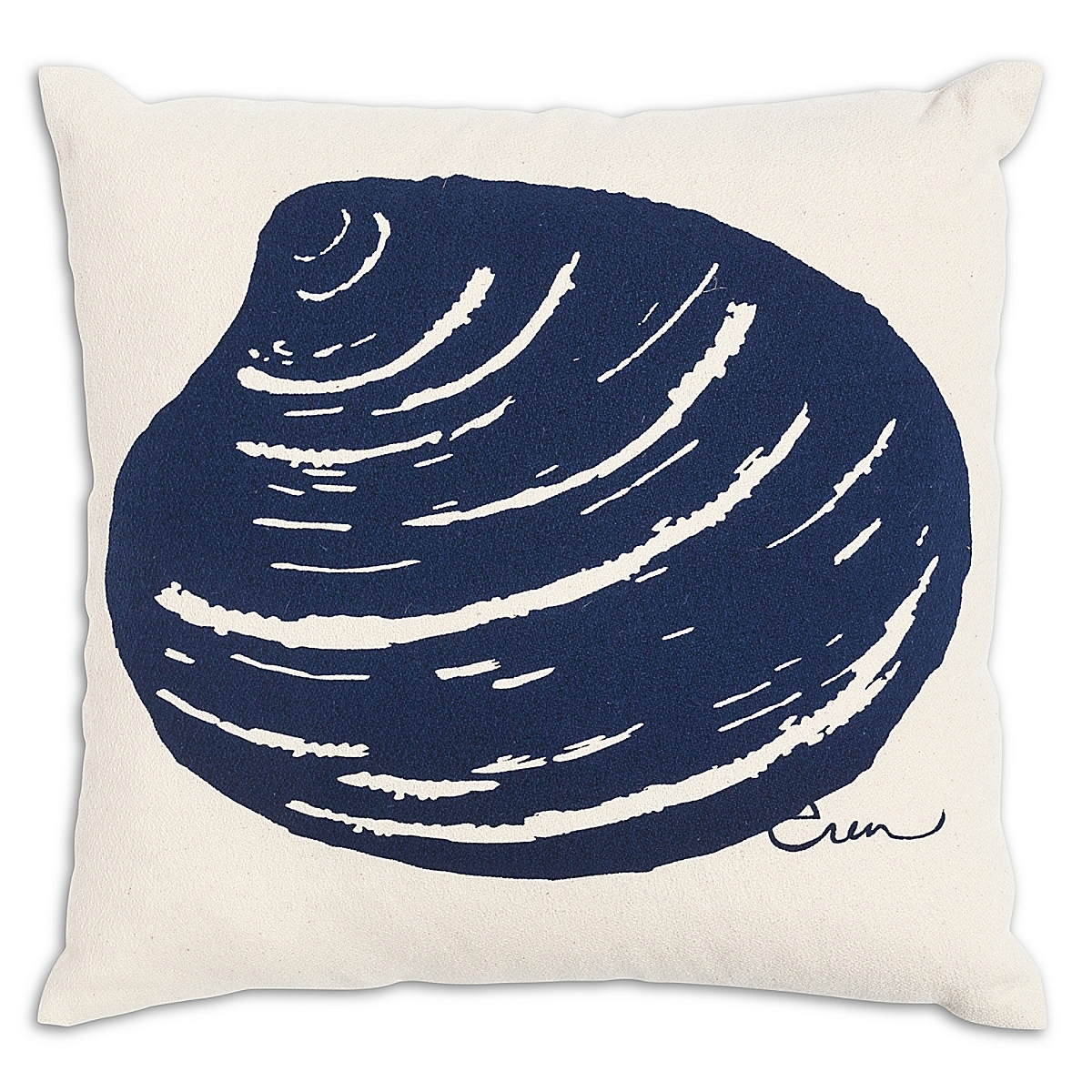 "20"" x 20"" - Clam Pillow: Navy"