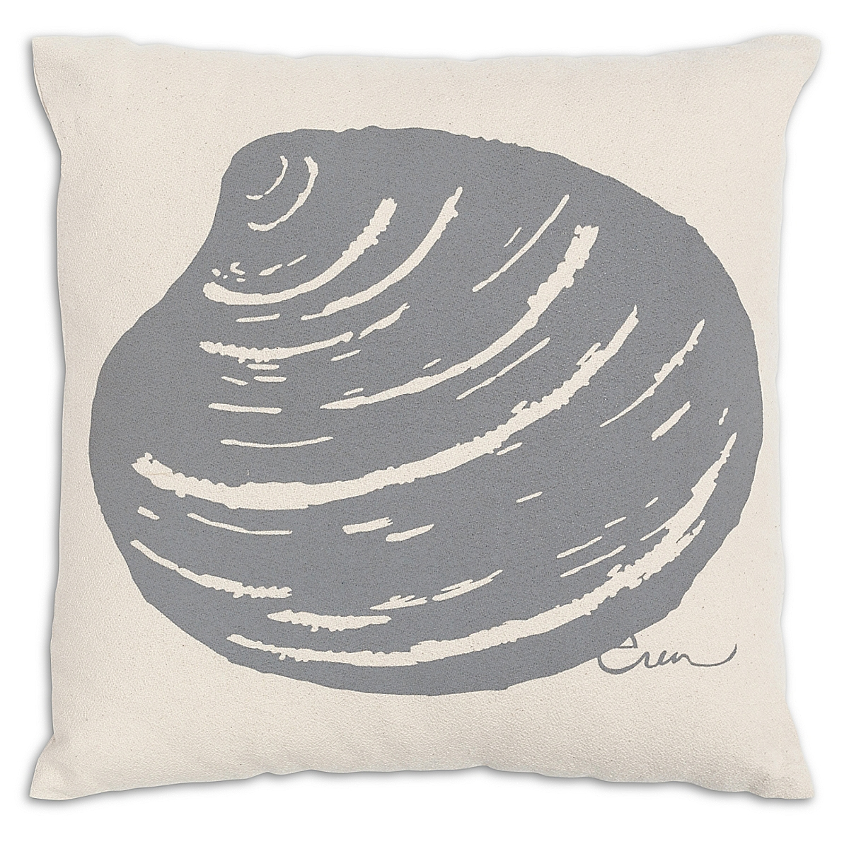 "20"" x 20"" - Clam Pillow: Slate"