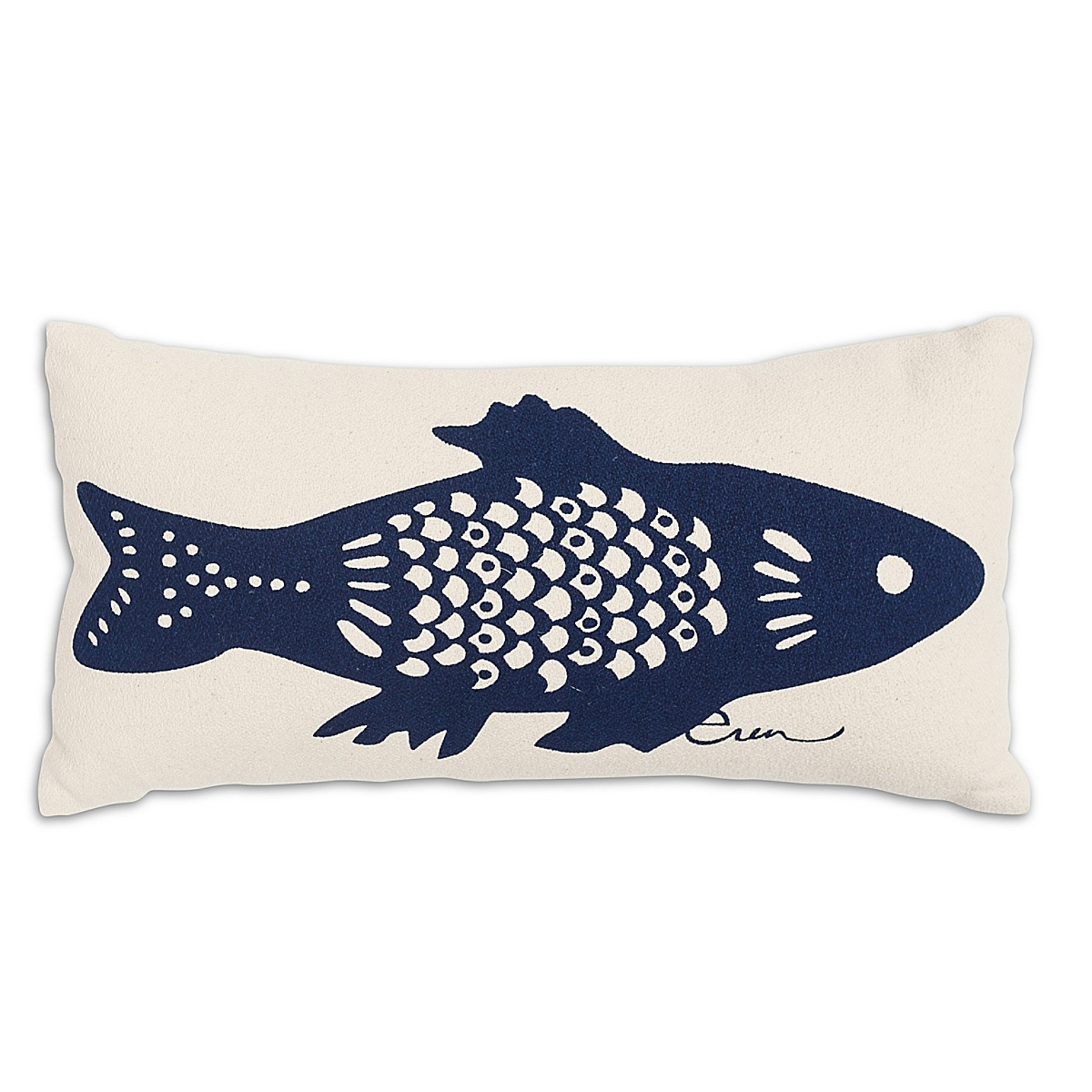 """10"""" x 20"""" - Cod Pillow: Navy"""