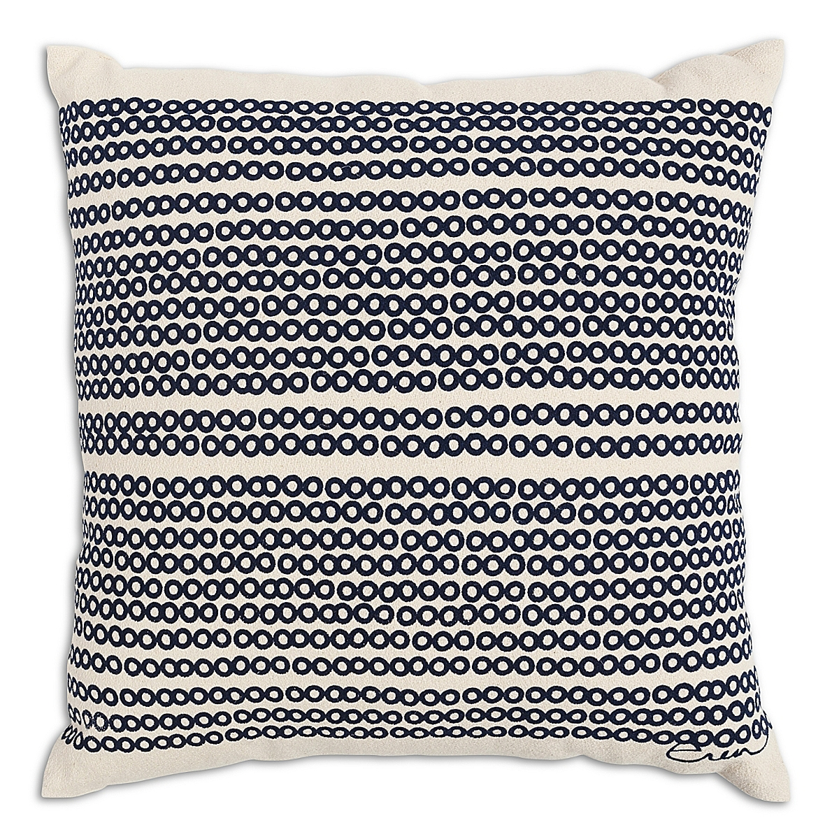 "20"" x 20"" - Decco Dots Pillow: Navy"