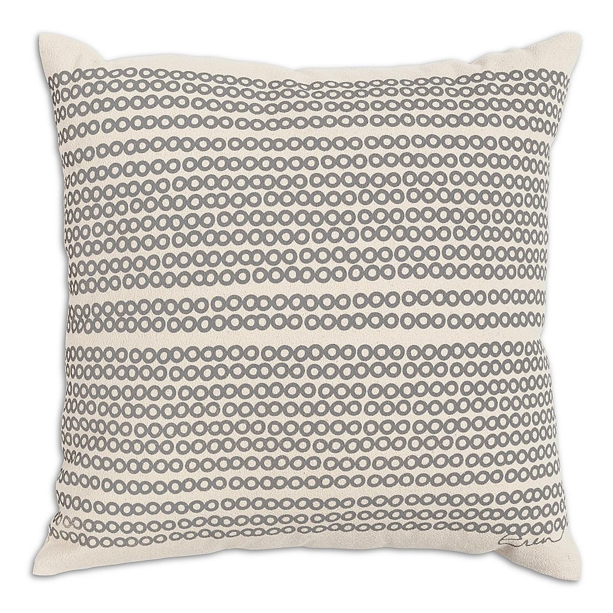 "20"" x 20"" - Decco Dots Pillow: Slate"