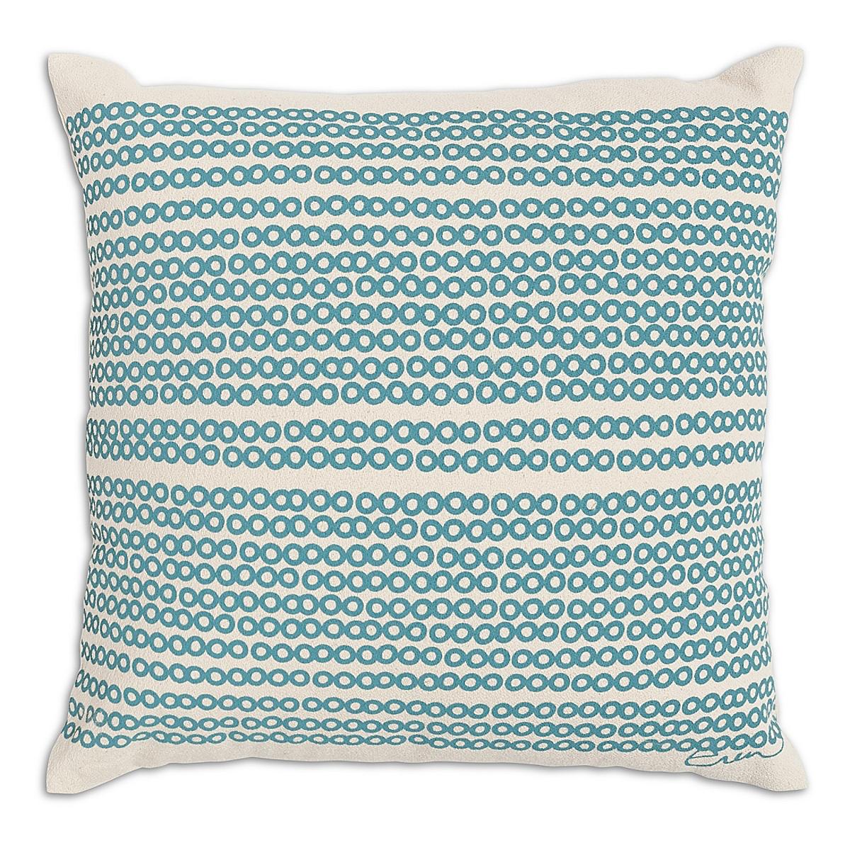 """20"""" x 20"""" - Decco Dots Pillow: Surf"""