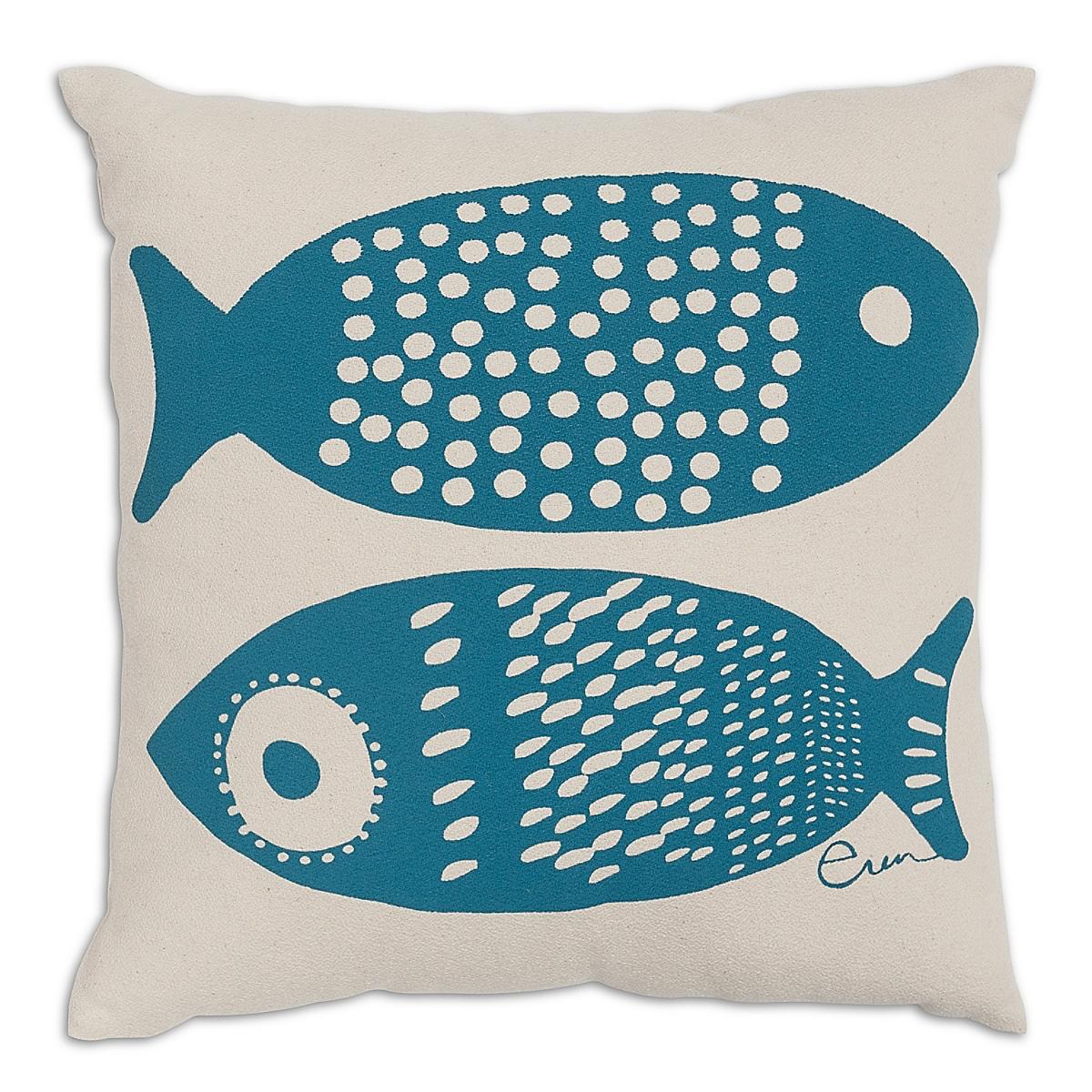 "20"" x 20"" - Double Tuna Pillow: Lagoon"