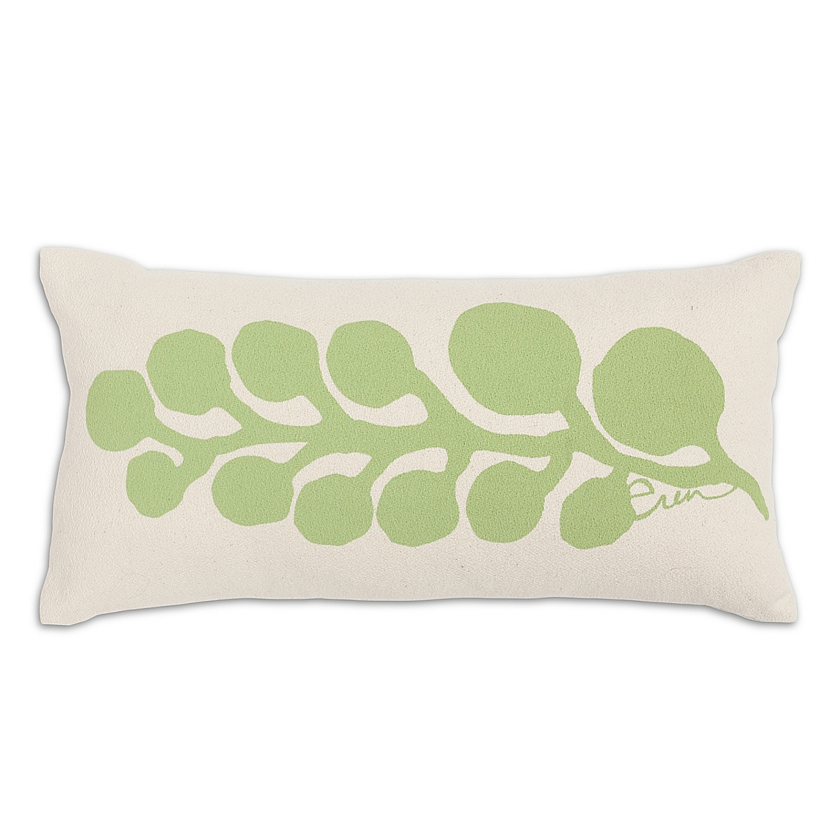 "10"" x 20"" - Seaweed Pillow: Hot Lime"