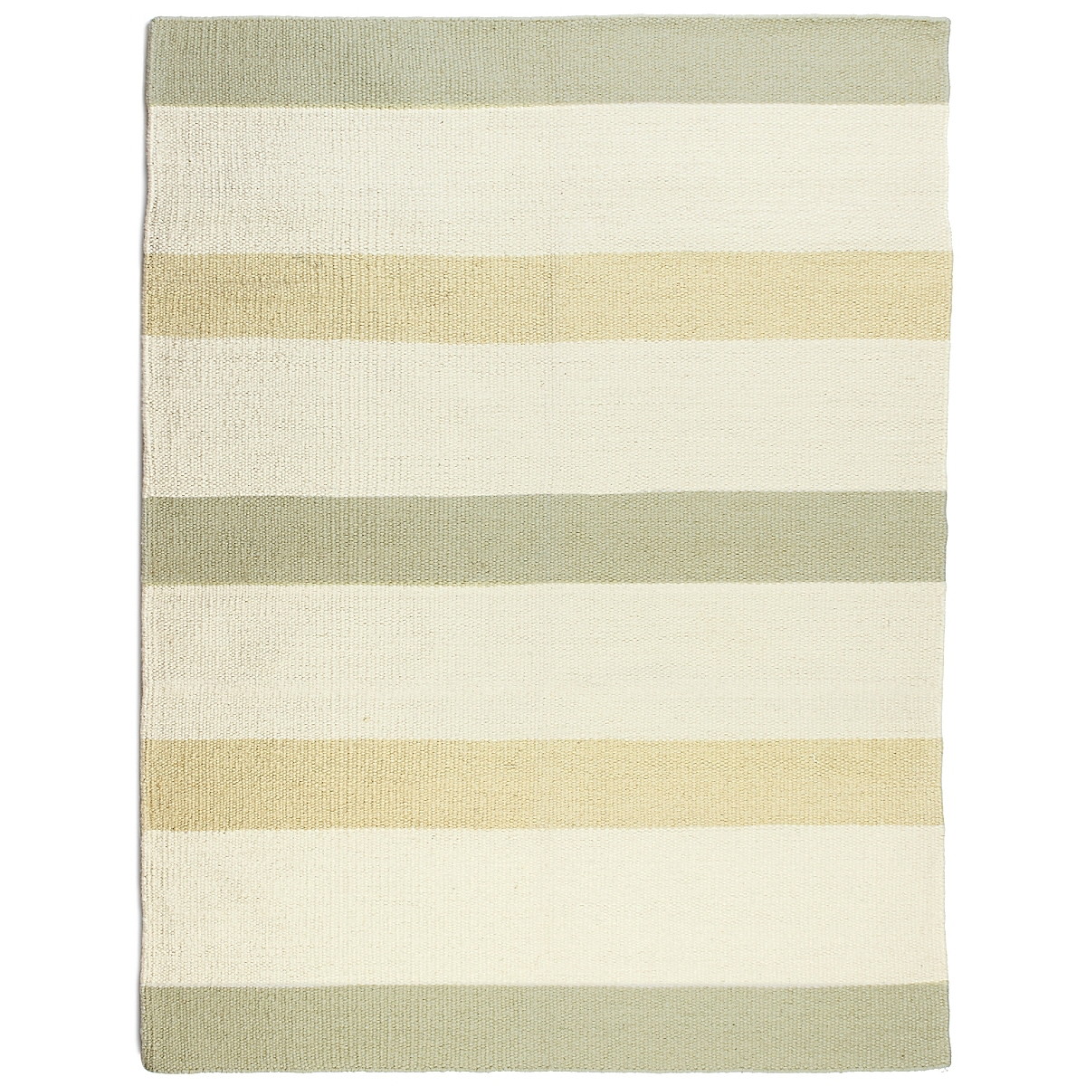 Fort Point Wool Berber Striped Rug