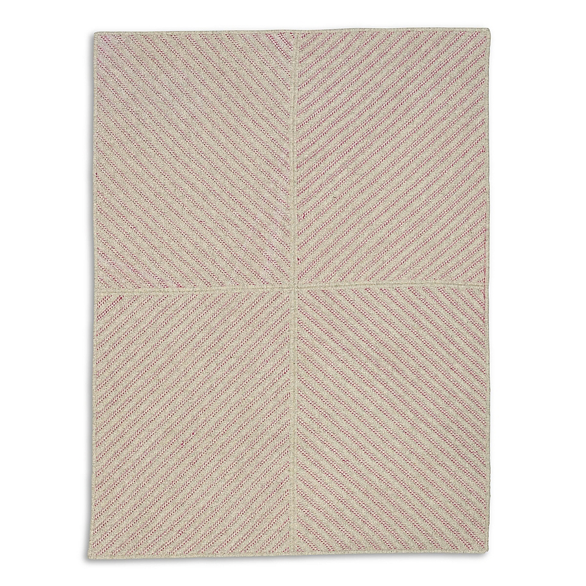 Four Points Diagonal Rug - Fuchsia