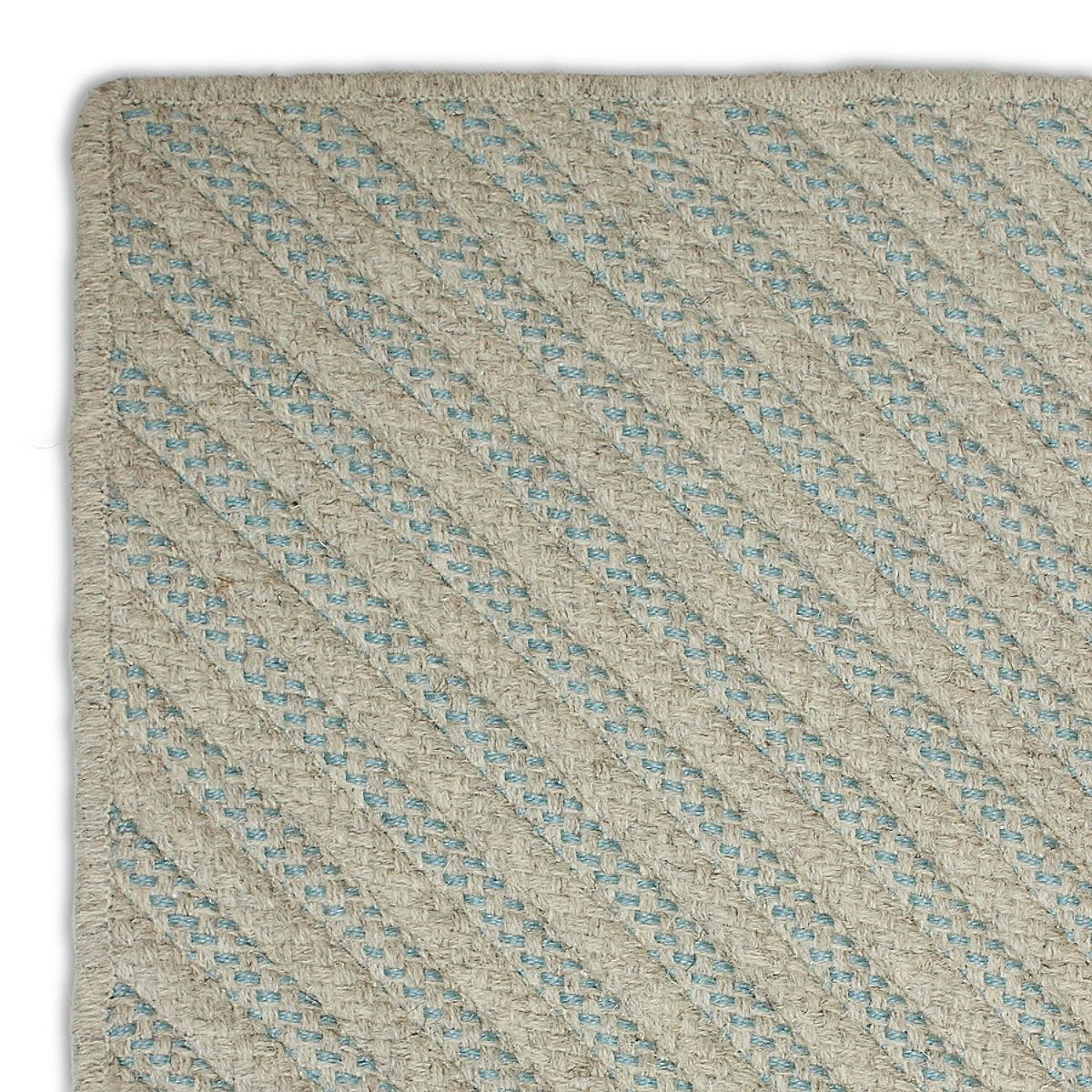 Four Points Diagonal Rug - Light Blue
