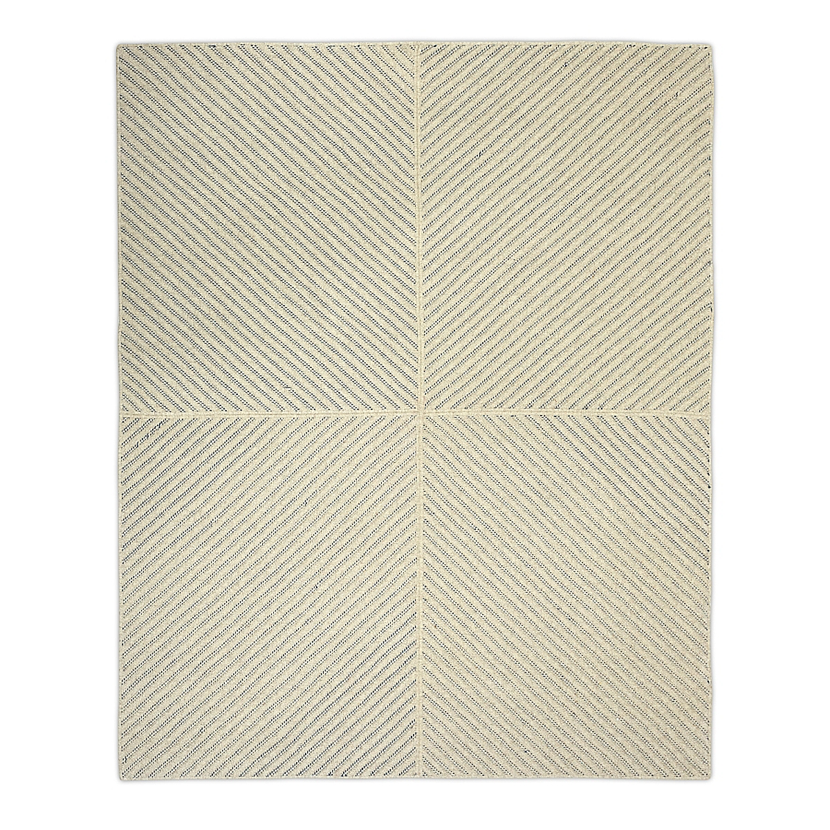 Four Points Diagonal Rug - Navy