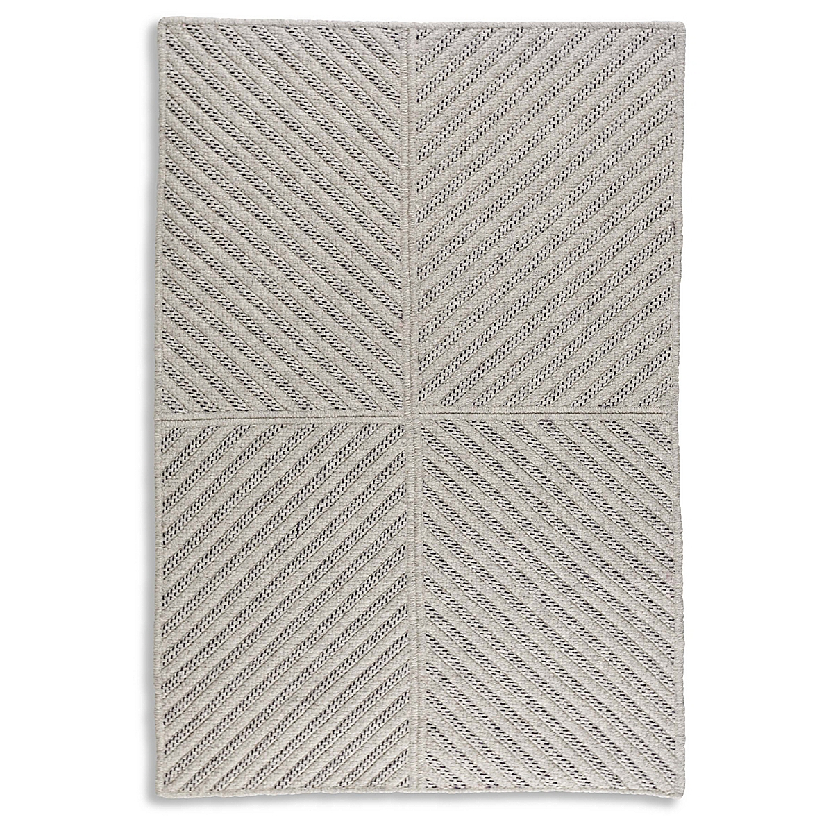 Four Points Diagonal Rug - Plum