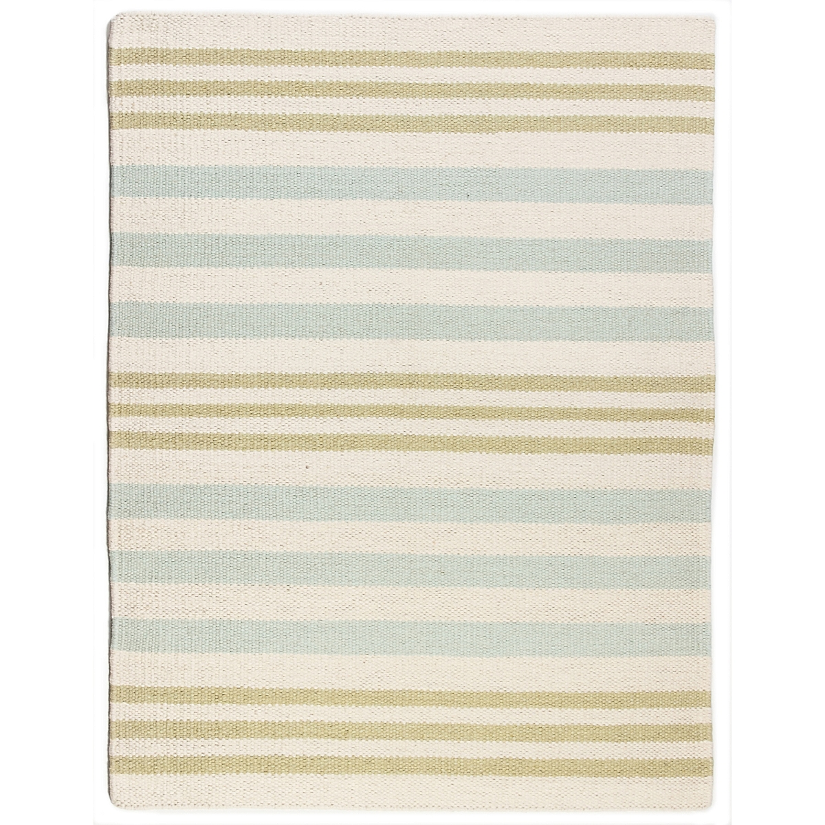 Gross Point Wool Berber Striped Rug