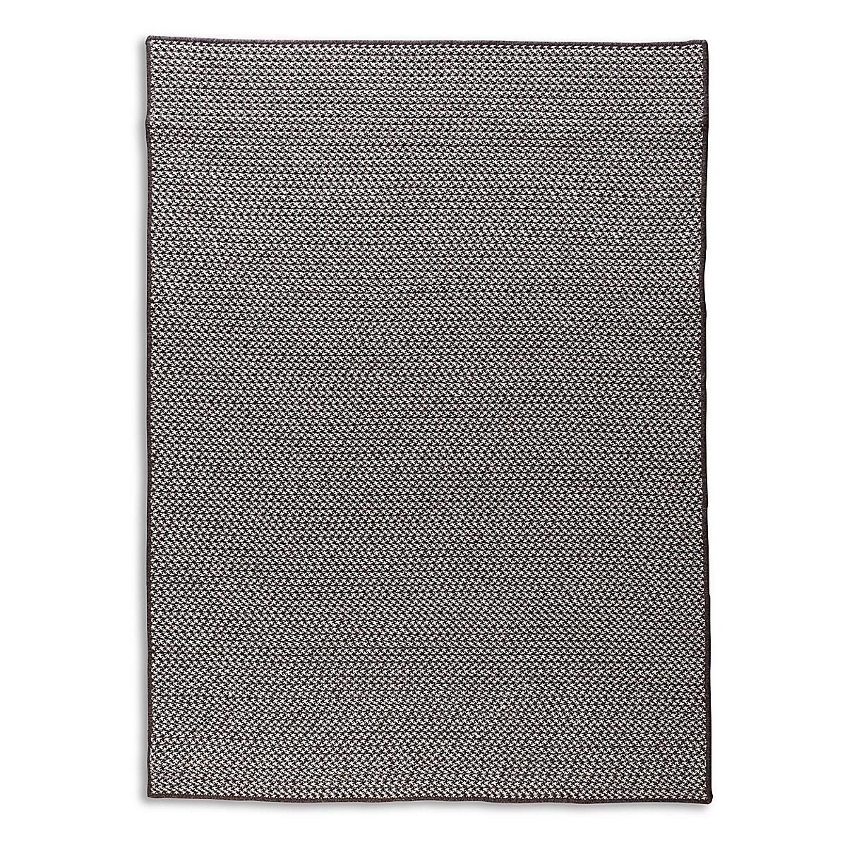 Houndstooth Wool Rug - Charcoal
