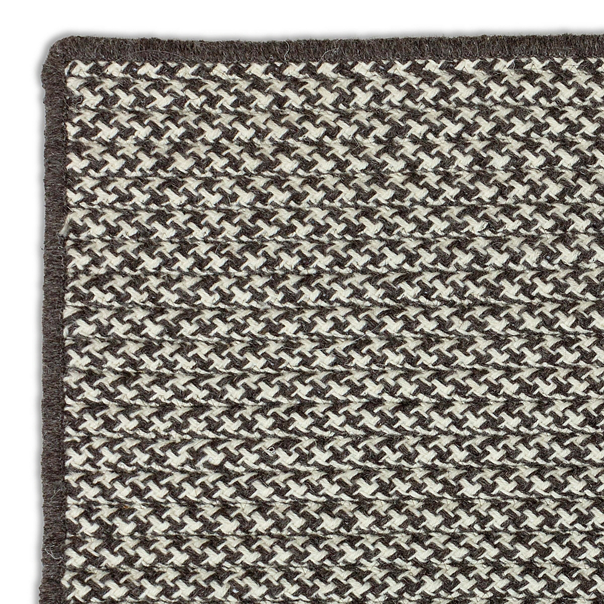 houndstooth wool rug - charcoal | maine cottage®